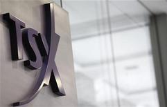 A Toronto Stock Exchange (TSX) logo is seen in Toronto November 9, 2007.  REUTERS/Mark Blinch