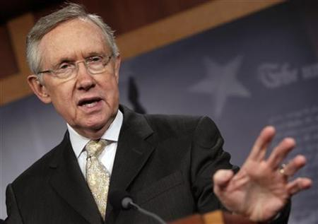 U.S. Senate Majority Leader Harry Reid (D-NV) speaks during his news conference on the payroll tax cut extension on Capitol Hill in Washington Dec. 23, 2011. REUTERS/Yuri Gripas