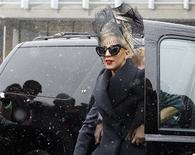 Lady Gaga arrives at Harvard University to launch her Born This Way Foundation in Cambridge, Massachusetts February 29, 2012.    REUTERS/Brian Snyder