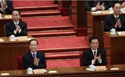 China's President Hu Jintao (front R) and Premier Wen Jiabao (front L) clap as they attend the opening ceremony of the Chinese People's Political Consultative Conference (CPPCC) at the Great Hall of the People in Beijing March 3, 2012. REUTERS/Jason Lee