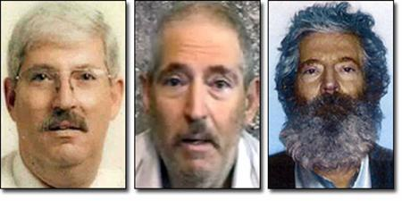 Composite images of former FBI agent Robert Levinson released by the FBI on March 6, 2012. REUTERS/FBI