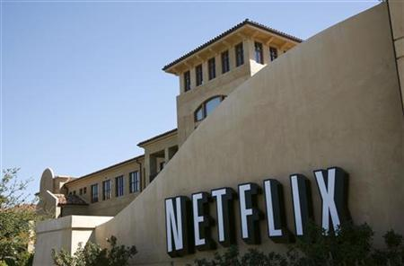 A sign is shown at the headquarters of Netflix in Los Gatos, California September 20, 2011. REUTERS/Robert Galbraith/Files