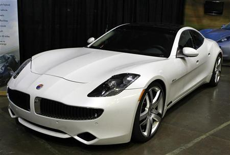 A Fisker Karma Luxury Plug In Hybrid Car Is Seen At The Sixth Annual Alternative Transportation Expo And Conference Altcar Santa Monica