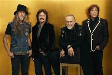 Members of the rock group the Doobie Brothers (L-R) Pat Simmons,Tom Johnston, Mike Hossack and John McFee are shown in this undated publicity photograph released to Reuters March 13, 2012. Doobie Brothers drummer Hossack,65, died March 12 at his home in Dubois, Wyoming after a long battle with cancer, according to Doobie Brothers manager Bruce Cohn March 13. REUTERS/Courtesy d. baron media relations/Handout