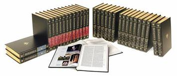 A 32 volume set of the Encyclopaedia Britannica is shown in this undated publicity photograph released to Reuters on March 13, 2012. REUTERS/Courtesy of Encyclopaedia Britannica/Handout