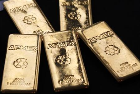 Gold Bullion from the American Precious Metals Exchange (APMEX) is seen in New York, September 15, 2011. REUTERS/Mike Segar