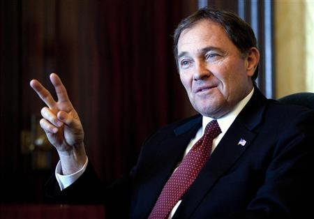 Utah Governor Gary Herbert talks about the state's economic development in Salt Lake City, Utah January 11, 2012. REUTERS/Jim Urquhart