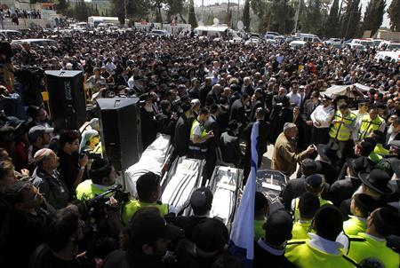Victims of France shooting buried in Jerusalem