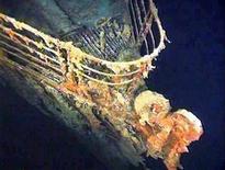 """Imagem do corrimão do convés do Titanic no fundo do mar, fotografado em uma expedição científica e de recuperação, em agosto de 1996. O livro  """"Titanic: The Tragedy That Shook the World"""", em lembrança pelo centenário do naufráfio, inclui fotos e histórias do navio. Foto de arquivo  21/08/1996 REUTERS/Stringer"""