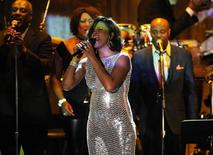 Whitney Houston performs at the Pre-Grammy Gala & Salute to Industry Icons with Clive Davis honoring David Geffen held in Beverly Hills, California, February 12, 2011. REUTERS/Phil McCarten