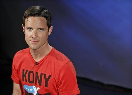 Jason Russell, co-founder of non-profit Invisible Children and director of ''Kony 2012'' viral video campaign, poses in New York, March 9, 2012. REUTERS/Brendan McDermid