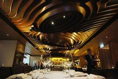 An interior view of Gold restaurant run by Harlan Goldstein in Hong Kong March 6, 2012. REUTERS/Andy Ho