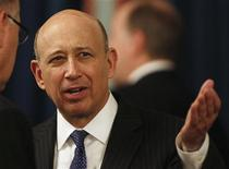 Chief Executive Officer of Goldman Sachs Lloyd C. Blankfein talks during a business roundtable event at the U.S. Chamber of Commerce in Washington February 14, 2012. REUTERS/Larry Downing