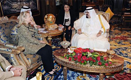 Clinton, Saudi's Abdullah discuss world oil balance thumbnail