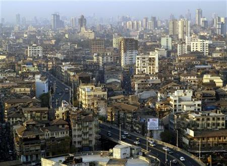 An aerial view of Mumbai city January 30, 2006. REUTERS/Adeel Halim/Files
