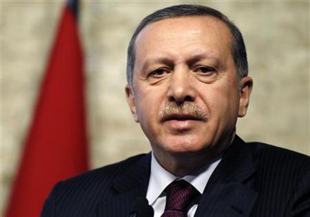 Turkey's Prime Minister Recep Tayyip Erdogan addresses the media in Ankara April 5, 2012. REUTERS/Umit Bektas