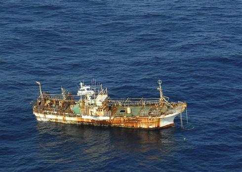 Tsunami 'ghost ship'