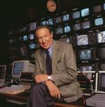 """Mike Wallace, Co-Editor 60 MINUTES, and CBS NEWS Correspondent is pictured in this 2001 CBS photograph. Wallace, who earned a reputation as a tough interviewer on the network's """"60 Minutes"""" show, died at the age of 93, the network said on April 8, 2012. REUTERS/Peter Freed/CBS/Handout"""