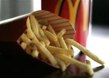 A large order of McDonald's french fries is shown May 22, 2008. REUTERS/Sam Mircovich