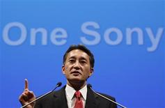 Sony Corp's new President and Chief Executive Officer Kazuo Hirai attends a news conference at the company headquarters in Tokyo April 12, 2012. REUTERS/Yuriko Nakao