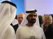 Sheikh Mohammed bin Rashid Al Maktoum, vice president of the UAE and ruler of Dubai, is seen after the opening session of the World Economic Forum (Summit on the Global Agenda) in Abu Dhabi October 10, 2011. REUTERS/Jumana El Heloueh