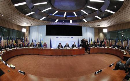 European Union leaders attend a summit in Brussels March 2, 2012. REUTERS/Francois Lenoir
