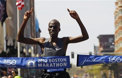 Korir leads Kenyan sweep at Boston Marathon