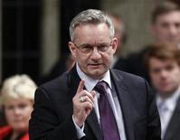 Canada's International Trade Minister Ed Fast speaks during Question Period in the House of Commons on Parliament Hill in Ottawa December 8, 2011. REUTERS/Chris Wattie