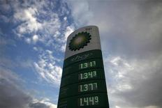Petrol prices are advertised at a petrol station in Ronda, near Malaga, southern Spain March 4, 2011. REUTERS/Jon Nazca