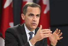 Mark Carney, the governor of The Bank of Canada, speaks to reporters at a news conference in Ottawa, April 18, 2012. REUTERS/Patrick Doyle