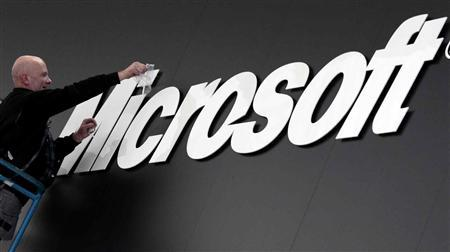 Microsoft beats Street profit view, shares up