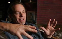 Ted Nugent responds to a question during an interview before a concert at the House of Blues at the Mandalay Bay Resort in Las Vegas, Nevada August 11, 2007. REUTERS/Steve Marcus