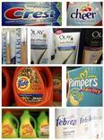 Комбинация фотографий продуктов Procter & Gamble, 28 мая 2009 г. Прибыль Procter & Gamble Co снизилась в третьем квартале финансового года из-за расходов на реструктуризацию и роста цен на сырье. REUTERS/Molly Riley