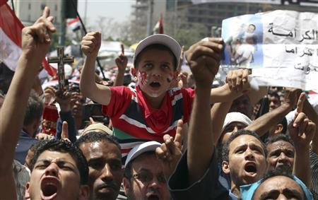 Egyptians protest amid fears over Mubarak old guard