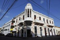 A general view of a house in the colonial zone of Santo Domingo July 25, 2011. REUTERS/Eduardo Munoz