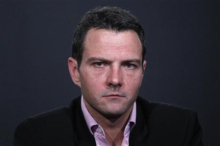 Former Societe Generale trader Jerome Kerviel attends a news conference in Paris April 27, 2012. REUTERS/Gonzalo Fuentes
