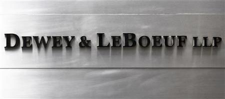 A sign marking the Dewey & LeBoeuf LLP headquarters on 6th avenue is seen in New York April 20, 2012. REUTERS/Shannon Stapleton