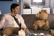 """Mark Wahlberg in a scene from Seth MacFarlane's """"Ted"""". REUTERS/Universal Pictures"""