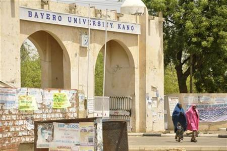 A view of the old gate of Bayero University in Nigeria's northern city of Kano April 29, 2012. REUTERS/Stringer
