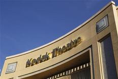 "Signage for the theatre in the Hollywood & Highland shopping complex, site of the 84th annual Academy Awards, shows ""Kodak Theatre"" in Hollywood February 22, 2012. The Eastman Kodak Co. obtained approval of a bankruptcy court February 15, 2012 to end its sponsorship deal with the Hollywood theatre which is the venue for the Academy Awards. REUTERS/Danny Moloshok"