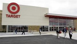 Target Corporation shareholders leave the annual shareholders meeting. REUTERS/Allen Fredrickson