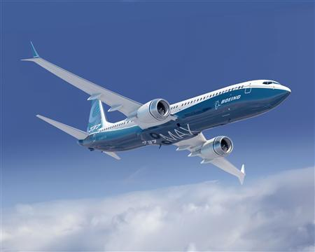 An undated artist's rendering of a 737 MAX 9 with new Advanced Technology winglets is seen in this handout Boeing image released to Reuters May 2, 2012. REUTERS/Boeing/Handout