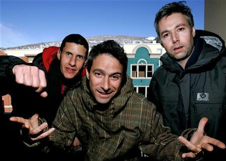 The Beastie Boys, (L-R) Mike Diamond, Adam Horowitz and Adam Yauch, are photographed at the 2006 Sundance film festival in Park City, Utah January 22, 2006.