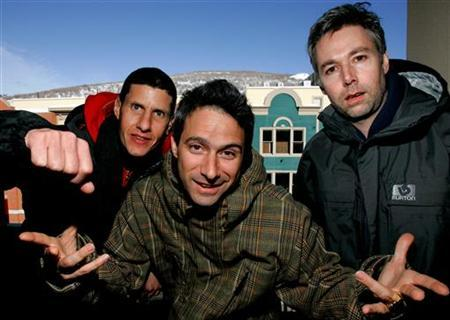 The Beastie Boys (L-R) Mike Diamond, Adam Horowitz and Adam Yauch are photographed at the 2006 Sundance film festival in Park City, Utah, January 22, 2006. REUTERS/Mario Anzuoni/Files