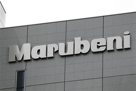 The logo of Japanese general trading company Marubeni Corp is seen at the company's head office in Tokyo. REUTERS/Stringer