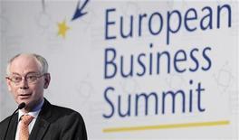 Il presidente del Consiglio europeo Herman Van Rompuy. REUTERS/Laurent Dubrule
