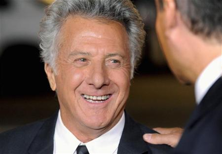 Actor Dustin Hoffman arrives at the Hollywood premiere of the HBO series ''Luck'' in Los Angeles, California January 25, 2012. REUTERS/Gus Ruelas