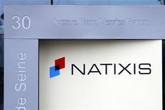 The logo of the French bank Natixis is seen in front its headquarters in Paris May 19, 2009. REUTERS/Charles Platiau
