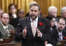 New Democratic Party leader Thomas Mulcair speaks during Question Period in the House of Commons on Parliament Hill in Ottawa May 9, 2012. REUTERS/Chris Wattie