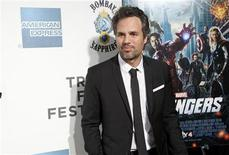 "Actor Mark Ruffalo arrives at the screening of the film ""Marvel's The Avengers"" for the closing night of the 2012 Tribeca Film Festival in New York April 28, 2012. REUTERS/Andrew Kelly"